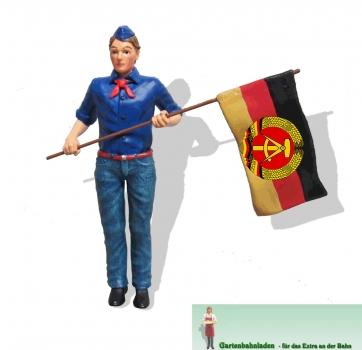 FDJ Junge mit Fahne