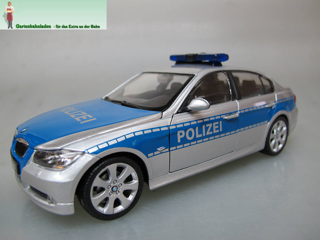 Gartenbahnladen - BMW - German Police Car silver - blue